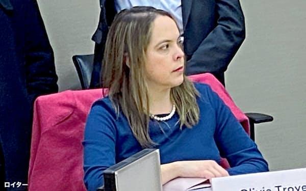 オリビア・トロイ氏は新型コロナ対策チームを率いるペンス米副大統領の顧問を務めていた=ロイター