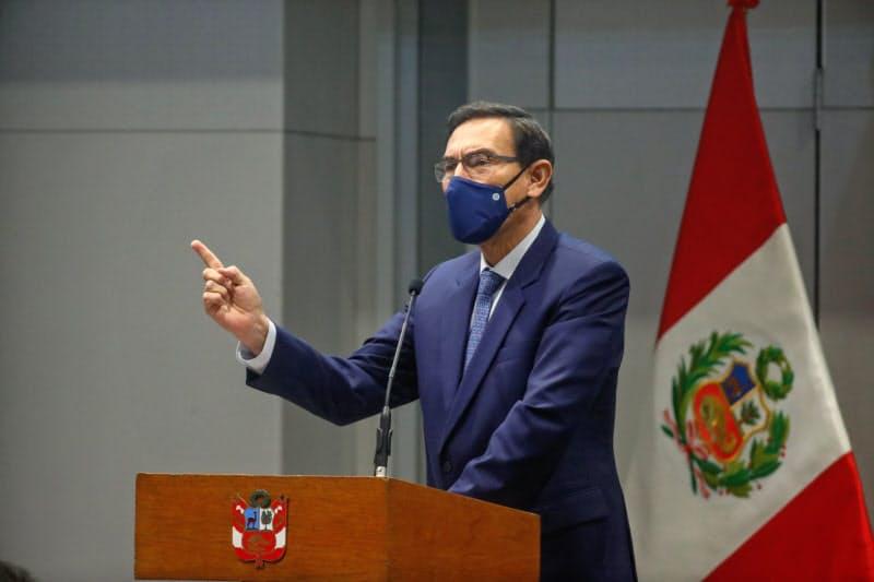 ビスカラ大統領(16日、リマ)=大統領府提供