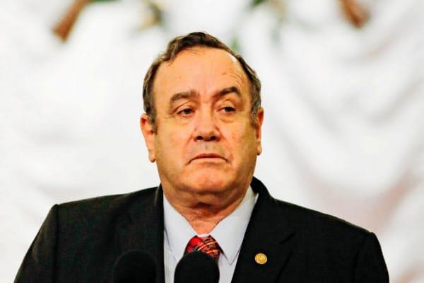 グアテマラのジャマテイ大統領=ロイター