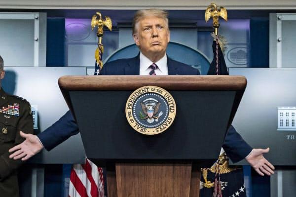 トランプ米大統領はTikTokについて「安全性を完璧に保つ必要がある」と述べた=AP