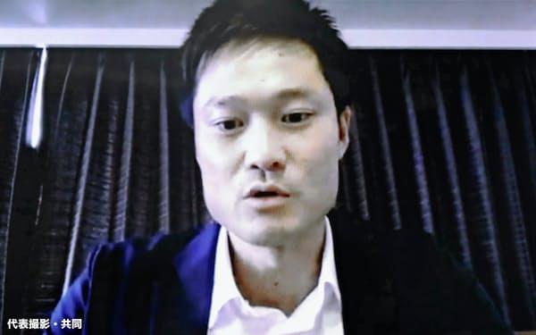 東京五輪・パラリンピック組織委との意見交換に、オンラインで参加した車いすテニスの国枝慎吾=代表撮影・共同