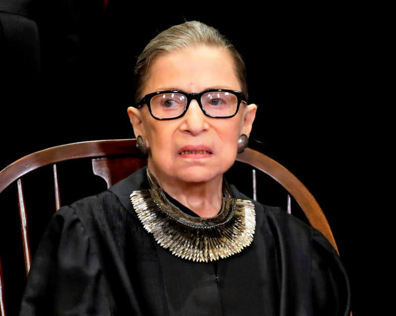 連邦最高裁判所のルース・ギンズバーグ判事(2018年11月)=ロイター