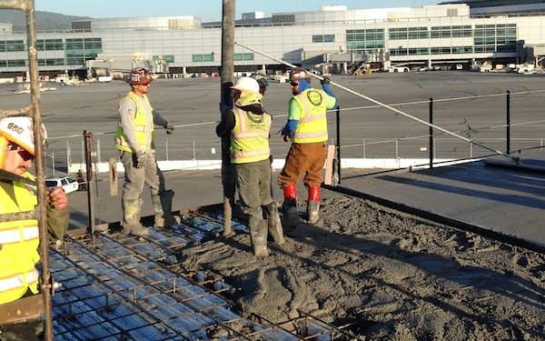 米ブループラネット社の再生コンクリートはサンフランシスコ国際空港の改装工事で使われた実績がある