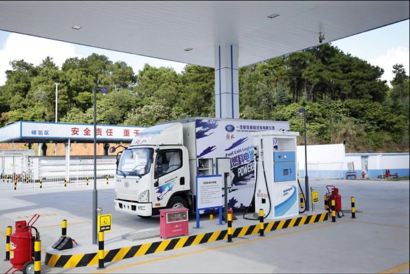 燃料電池車向けの水素ステーション(広東省仏山市)