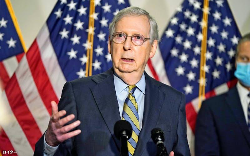 米上院共和党トップのマコネル院内総務は22日、最高裁判事の承認時期を明言しなかった(ワシントン)=ロイター