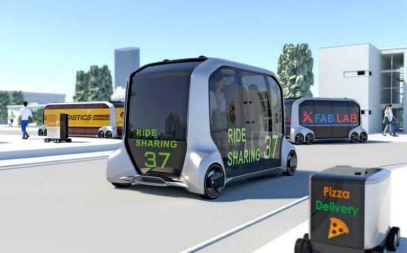 トヨタ自動車の「イーパレット」(イメージ)が市場拡大のきっかけとなると見込む