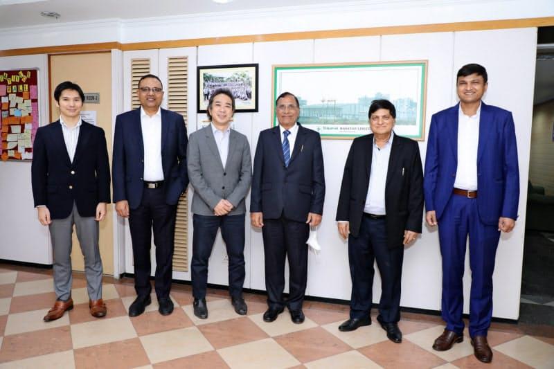 三井物産はインドで現地の農薬メーカーに出資した(18日、ブハラット・インセクティサイズのデリー本社)