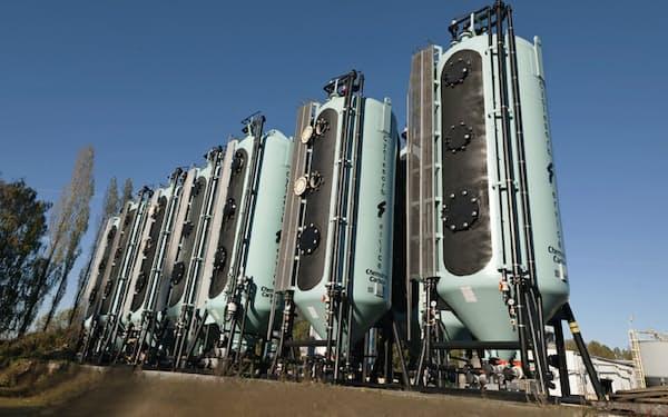 クラレは米国子会社のベルギーの工場で再生活性炭を増産する(工場で保管されている再生炭)