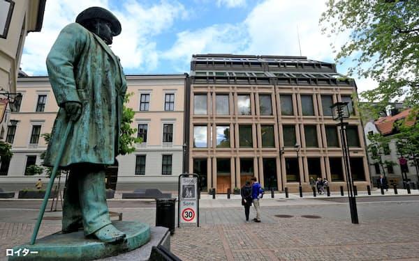 社会・環境面への国家の取り組みを、国債投資で考慮する動きも広がっている(オスロのノルウェー中央銀行)=ロイター