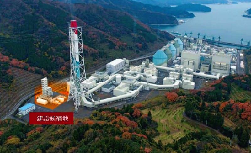 川重は関電の舞鶴発電所でCO2の省エネ型回収装置を試験する(装置の建設予定地)
