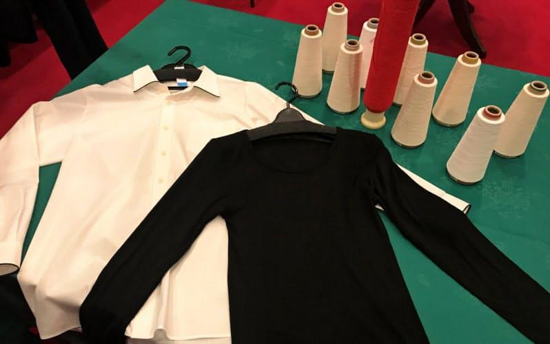 米デュポンの植物由来の樹脂を使った糸で編んだインナーやシャツ