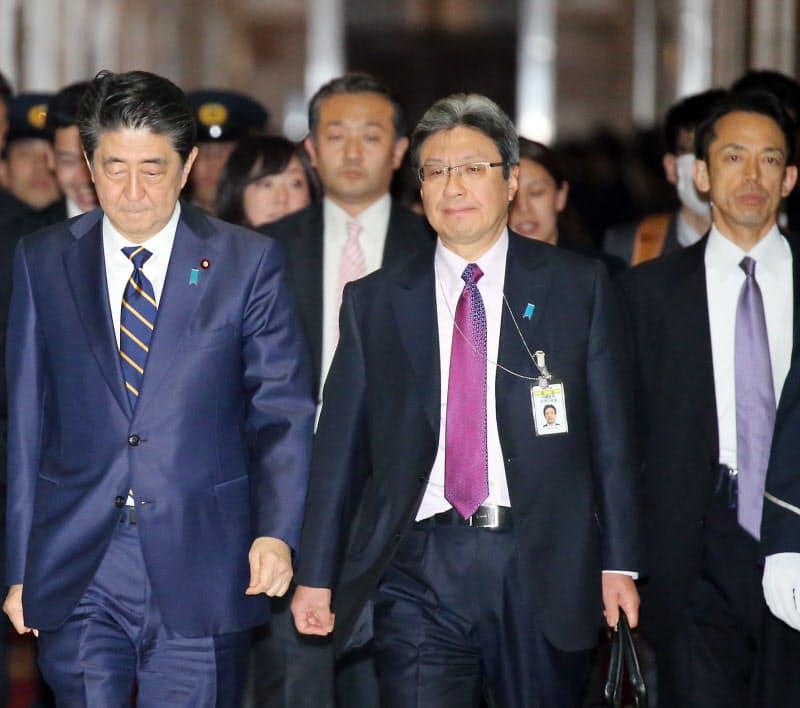 今井氏は安倍前首相の秘書官を務めた(2019年3月4日、国会内)