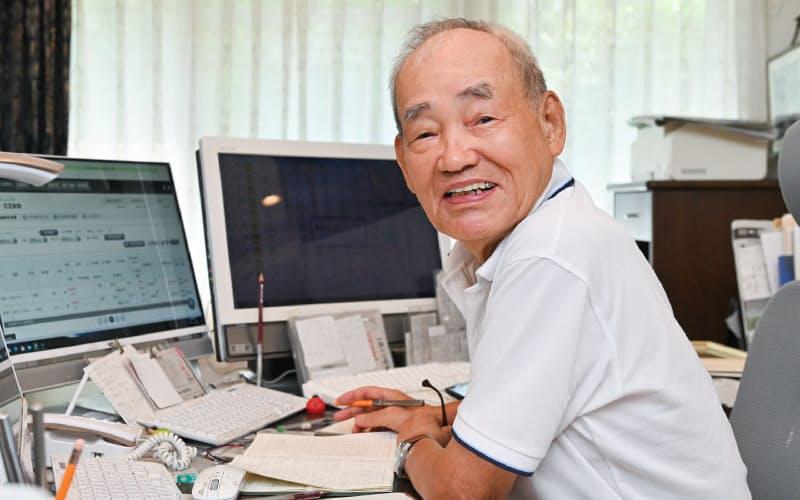 デイトレーダーの藤本茂さん(84)