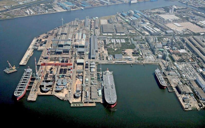 三井E&Sホールディングスは国内の造船事業を大幅に縮小する(千葉工場)