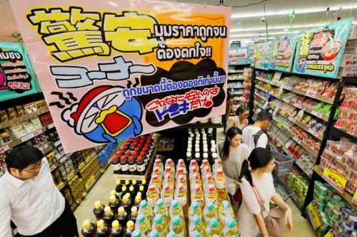 「ドンドンドンキ」は出店を拡大(写真は2019年2月、タイの1号店)=三村幸作撮影