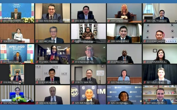 APECは財務相会合をオンライン形式で開いた(APECのホームページから転載)
