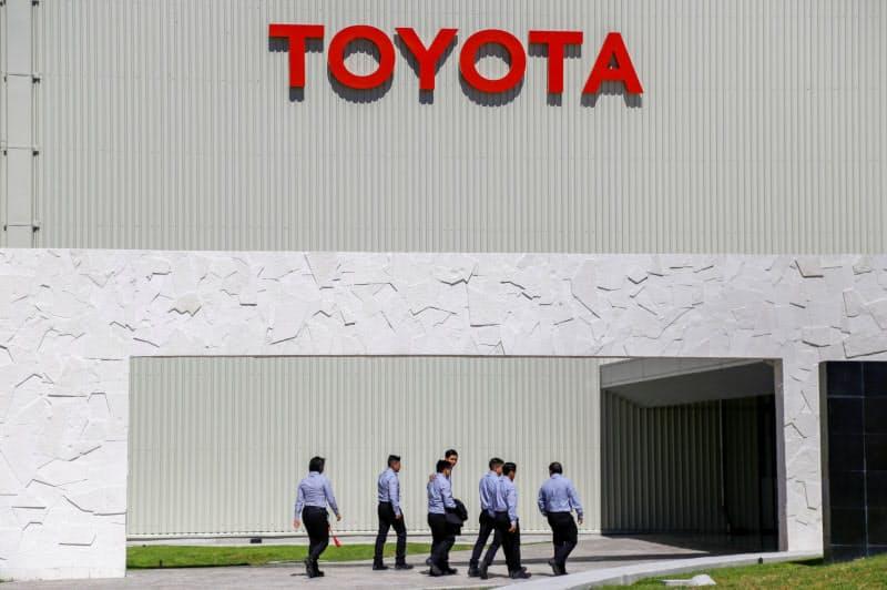 トヨタのメキシコ中部の工場(2月、グアナフアト州アパセオエルグランデ)=ロイター