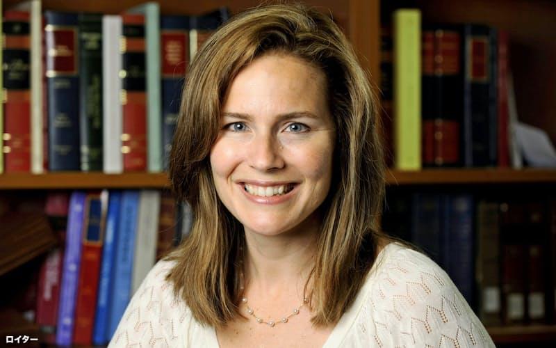 エイミー・バレット控訴裁判事は人工妊娠中絶に否定的なことで知られる=ロイター
