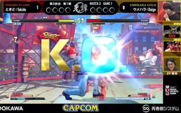カプコンは25日夜、11月末まで開催するリーグ戦の開幕戦を東京ゲームショウで配信した