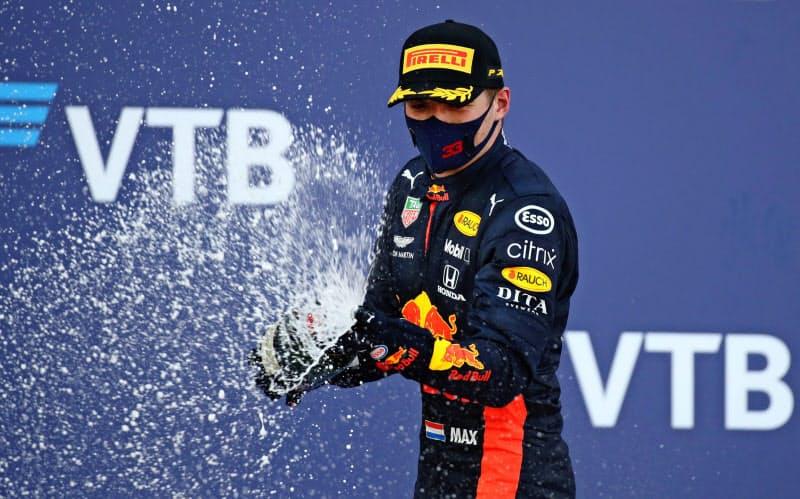 F1ロシアGPで2位に入ったフェルスタッペン=ロイター