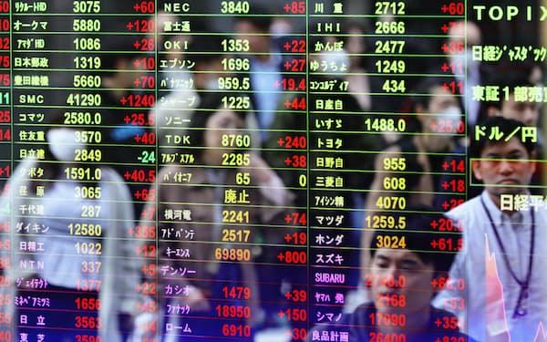 ヴァレックス・パートナーズは、逆風にさらされるバリュー投資でも高い運用成績を上げている(東京・八重洲の株価ボード)