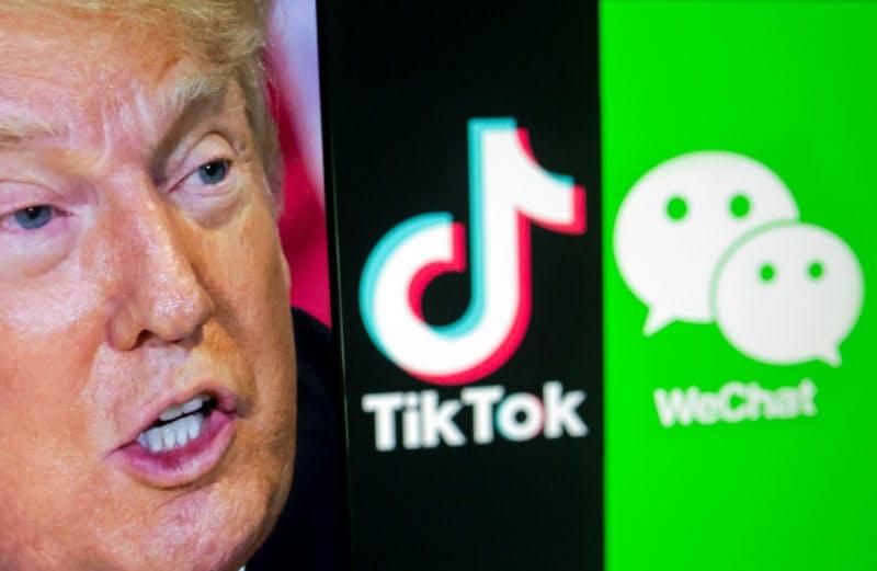 トランプ氏はTikTokの配信禁止をちらつかせて米国事業売却を迫ってきた=ロイター