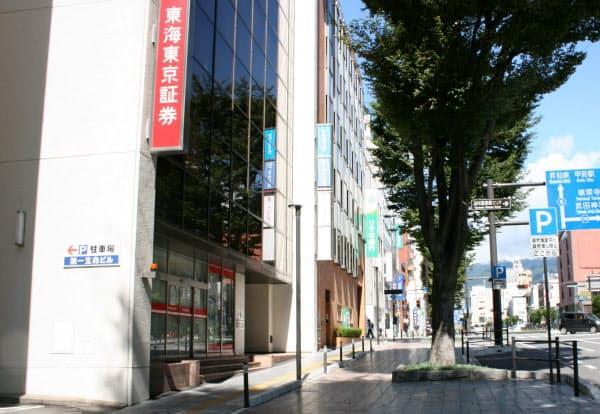 山梨県内の商業地で価格が最も高い甲府市丸の内の地点