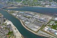 出荷が増加したリチウムイオン電池材料を生産する日亜化学工業の辰巳工場(徳島県阿南市)