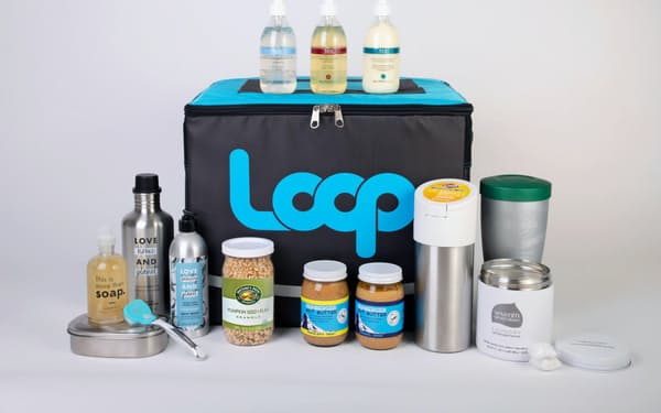 メーカーが繰り返し使える容器で商品を提供する(海外での提供品)