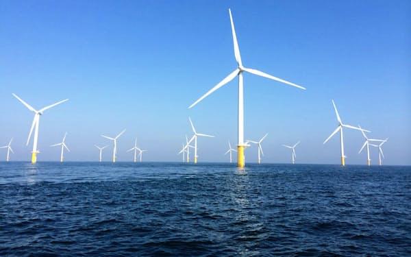 住商は英国の洋上風力発電事業を拡大させる(写真は同社がベルギーで事業参画する洋上風力発電所)