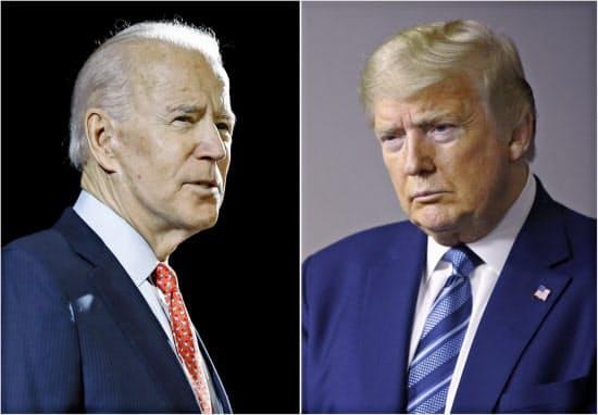 民主党候補のバイデン前副大統領(写真左)と共和党のトランプ大統領=いずれもAP