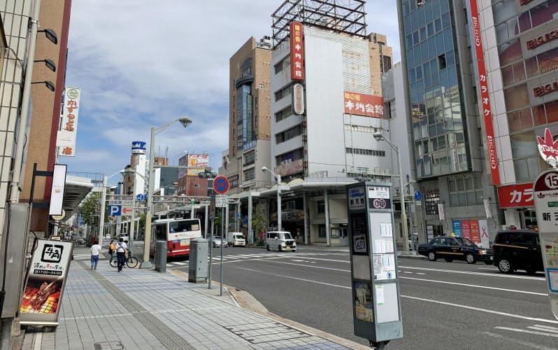 広島市中心部の地点でも上昇幅は鈍化している(広島市、中央通り)