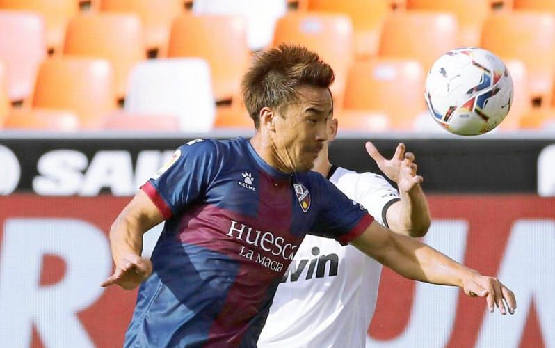 スペイン1部リーグ開幕後、岡崎は3試合連続で先発も、まだゴールがない=共同