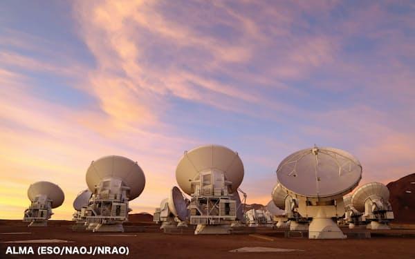 金星観測に使用された南米チリのアルマ望遠鏡(ALMA (ESO/NAOJ/NRAO))