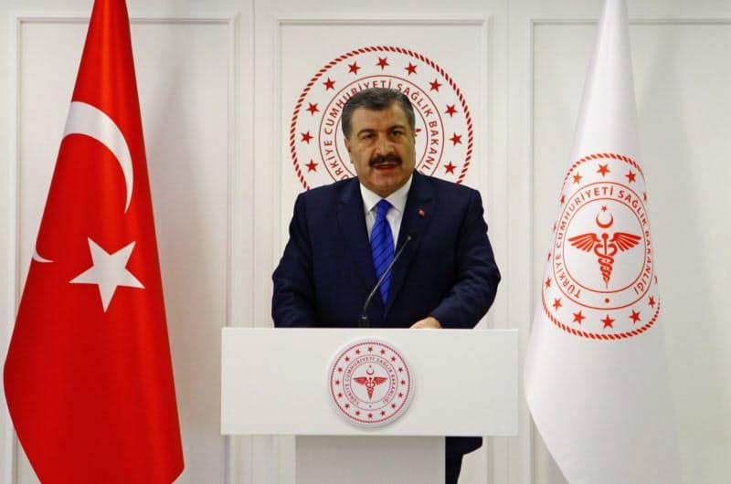 トルコのコジャ保健相=ロイター