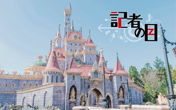 東京ディズニーランドの新エリアに建てられた「美女と野獣の城」