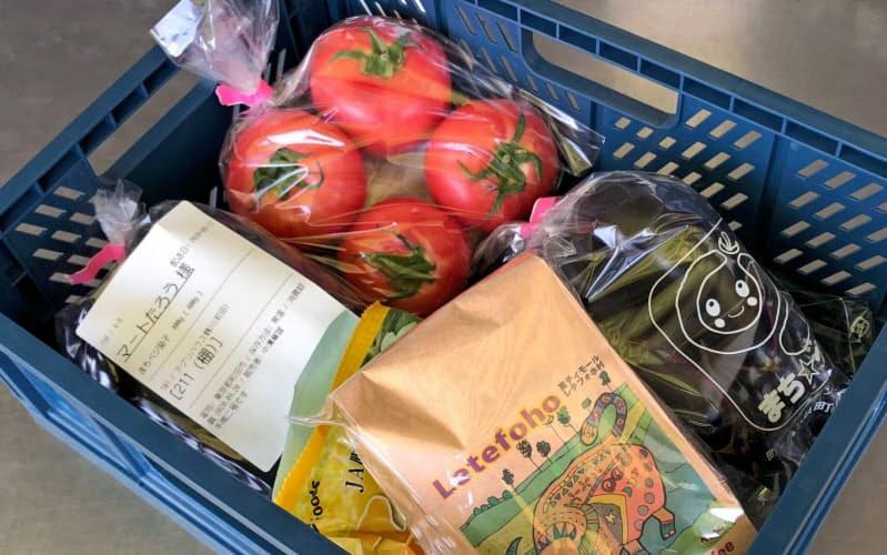 クックパッドマートの共同集荷所に納品された食品