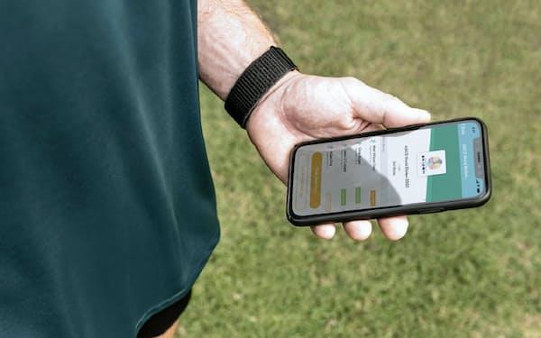 アシックスの運動記録アプリでレースの進捗を確認する