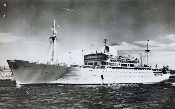 航行中の「カンボジア号」