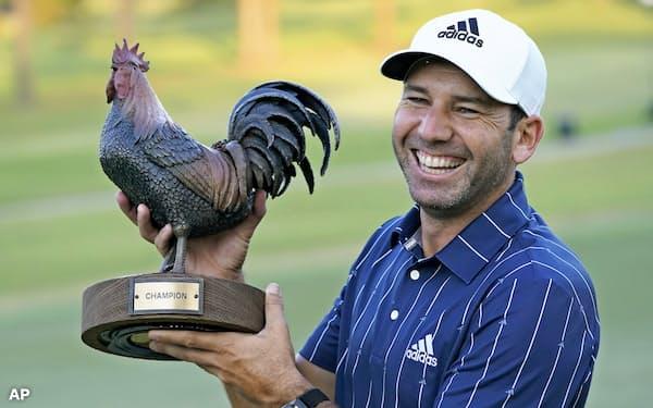 セルヒオ・ガルシアはサンダーソンファームズ選手権を制し、米ツアー3年ぶりの優勝を手にした=AP
