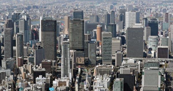 梅田エリアなど大阪市街地ではオフィスの開発計画が相次ぐ
