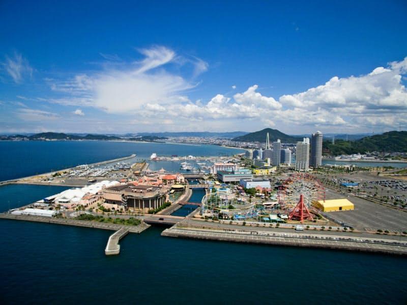 和歌山県は人工島「和歌山マリーナシティ」(和歌山市)へのIR誘致をめざしている