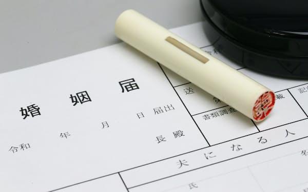 婚姻届や離婚届は認め印でも可能で、廃止できると判断した