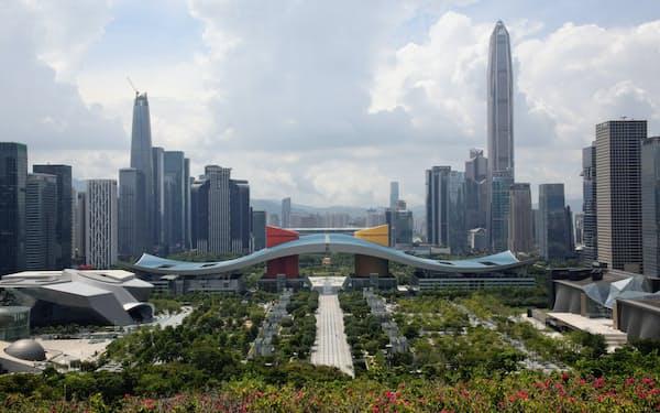 深圳は急速な発展を遂げた(8月)