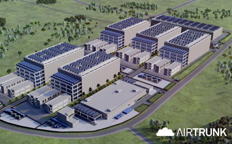 千葉・印西に国内最大のデータセンター団地を開発する(写真は完成イメージ)
