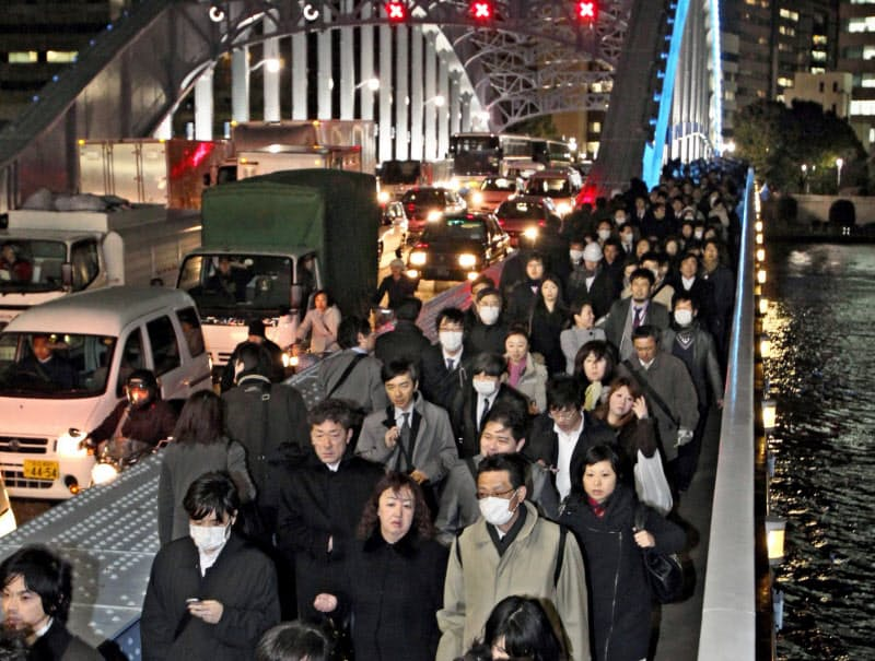 人流データは帰宅困難者の誘導などで欠かせない(2011年の東日本大震災では東京でも多くの人が歩いて帰宅した)
