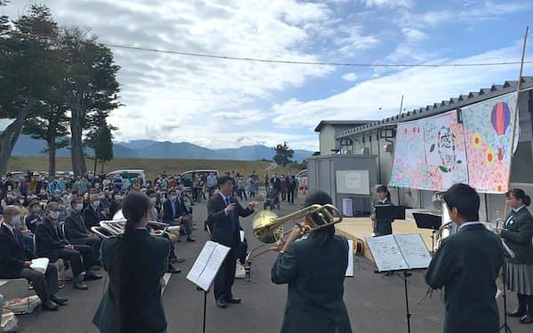 堤防が復旧した長野市長沼地区で「追悼と復興のつどい」が開かれた(11日)