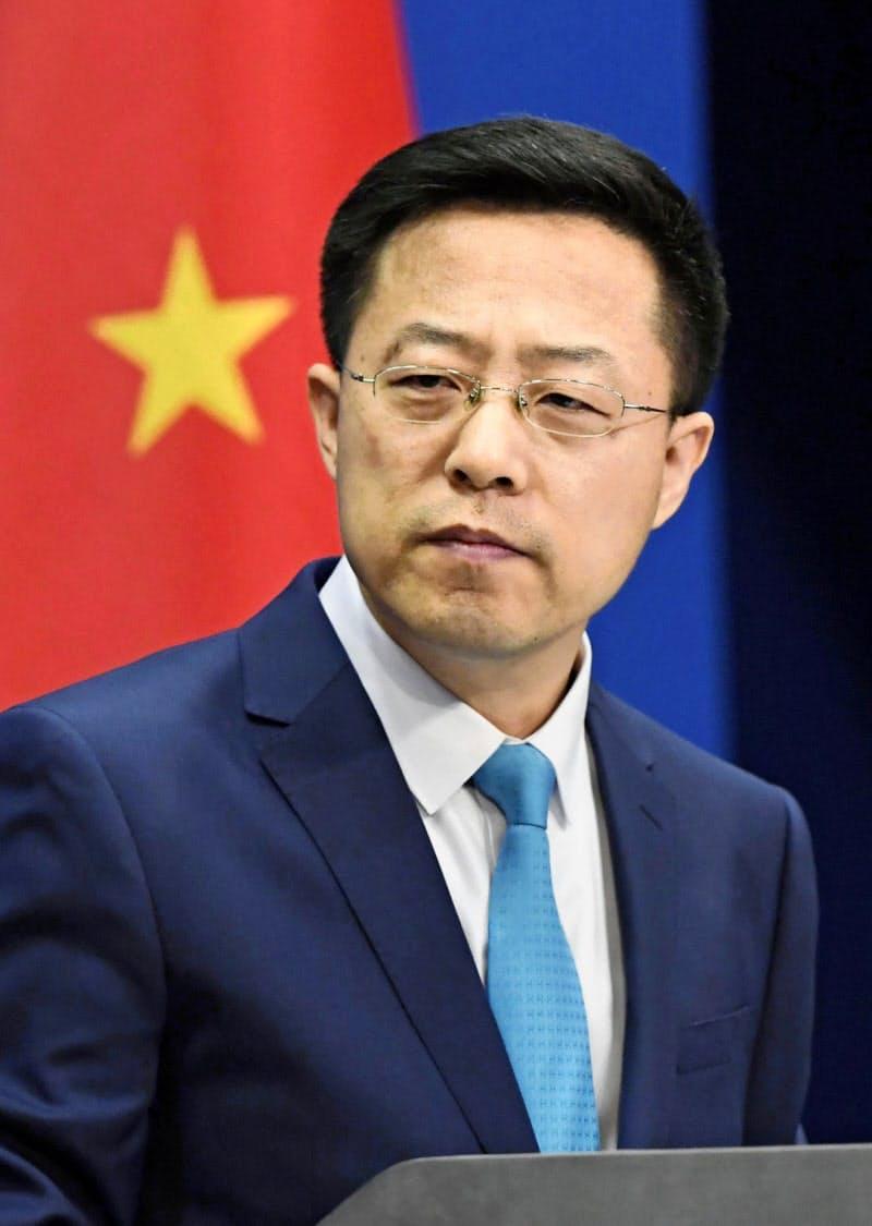 中国外務省の趙立堅副報道局長=共同