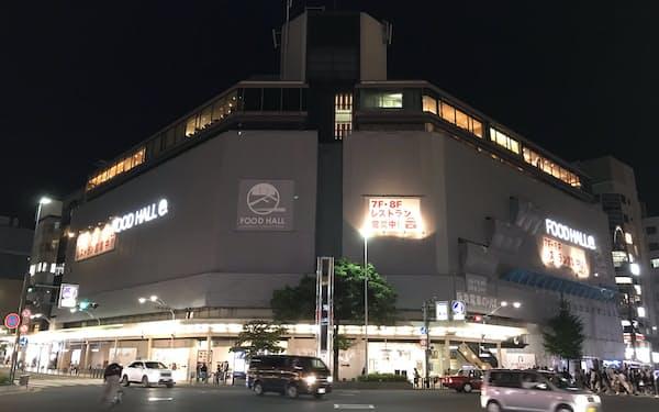 改装中の京都住友ビル。5月に京都マルイが閉店した