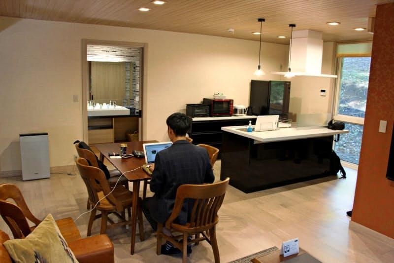 契約企業は貸別荘を月決め料金でワーケーション拠点として使える(栃木県那須町)